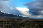 A storm is approaching Spring Valley, Nevada. South Nevada Water Authority (SNWA) has bought various ranches in this valley, securing the water rights that come along with the purchase of properties and land.