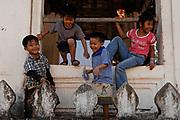 Children at Wat Paphai, Luang Prabang.