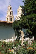 Outdoor garden, Mission Delores (c. 1776) San Francisco, California