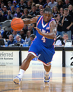 Kansas guard Sherron Collins drives to the basket in the first half against Kansas State at Bramlage Coliseum in Manhattan, Kansas, February 19, 2007.  Kansas defeated Kansas State 71-62.