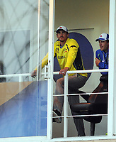 Cricket - 2017 ICC Champions Trophy - Group A: Australia vs. Bangladesh<br /> <br /> Mitchell Starc of Australia looks to the skies as the umpires inspect the ground before rain started again at The Kia Oval.<br /> <br /> COLORSPORT/ANDREW COWIE