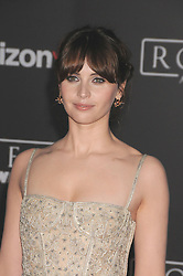 December 10, 2016 - Los Angeles, CA, United States of America - Felicity Jones arriving at the Star Wars ''Rogue One'' World Premiere at the Pantages Theater on December 10 2016 in Hollywood, CA  (Credit Image: © Famous/Ace Pictures via ZUMA Press)