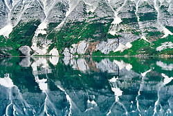 Reflection in Atlin Lake, headwaters of the Yukon River