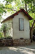 vineyard hut chateau du trignon rhone france