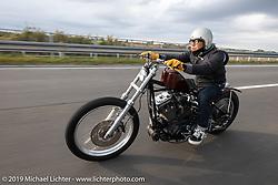 Junji Sakurai riding his 2002 Harley-Davidson custom XL rigid Sportster on the SureShot ride around Chiba, Japan. Saturday, December 8, 2018. Photography ©2018 Michael Lichter.