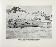 """SMOKESTACK OF THE CONFEDERATE WAR VESSEL ALBEMARLE from The American Civil War book and Grant album : """"art immortelles"""" : a portfolio of half-tone reproductions from rare and costly photographs designed to perpetuate the memory of General Ulysses S. Grant, depicting scenes and incidents in connection with the Civil War Published  in Boston and New York by W. H. Allen in 1894"""