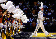 November 8, 2008; Baton Rouge, LA, USA; LSU Tigers drum major Rob Dowie leads the Tiger Marching Band onto the field for pregame prior to kickoff against the Alabama Crimson Tide at Tiger Stadium in Baton Rouge. Alabama defeated LSU 27-21. Mandatory Credit: Crystal LoGiudice-US PRESSWIRE ..