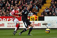 Photo: Tony Oudot.<br />Charlton Athletic v West Ham United. The Barclays Premiership. 24/02/2007.<br />Jerome Thomas of Charlton Athletic scores the second goal