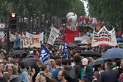 Around 15,000 civil servants demonstrated in Paris at the call of the main trade unions to defend their status and oppose the next reform wanted by the government. Paris, France, May 22, 2018. Photo by Samuel Boivin / ABACAPRESS.COM