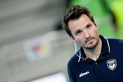 Luka Slabe, head coach of Slovenia during volleyball match between National teams of Slovenia and Poland in 4th Qualification game of CEV European Championship 2015 on May 23, 2014 in Arena Stozice, Ljubljana, Slovenia. Photo by Urban Urbanc / Sportida