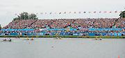 Eton Dorney, Windsor, Great Britain,..2012 London Olympic Regatta, Dorney Lake. Eton Rowing Centre, Berkshire[ Rowing]...Description;   Women's Pair Final approaching the line.  GBR W2- Helen GLOVER (b) , Heather STANNING (s).AUS W2- Kate HORNSEY (b) , Sarah TAIT (s).NZL W2- .Juliette HAIGH (b) , Rebecca SCOWN (s).USA.W2- Sara HENDERSHOT (b) , Sarah ZELENKA (s).ROM W2- Georgeta ANDRUNACHE (b) , Viorica SUSANU (s)   GER.W2- Kerstin HARTMANN (b) , Marlene SINNIG (s)  Dorney Lake. 11:57:31  Wednesday  01/08/2012.  [Mandatory Credit: Peter Spurrier/Intersport Images].Dorney Lake, Eton, Great Britain...Venue, Rowing, 2012 London Olympic Regatta...