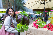 Portland Farmers' Market in the Park Blocks near Portland State University, in Portland, Oregon