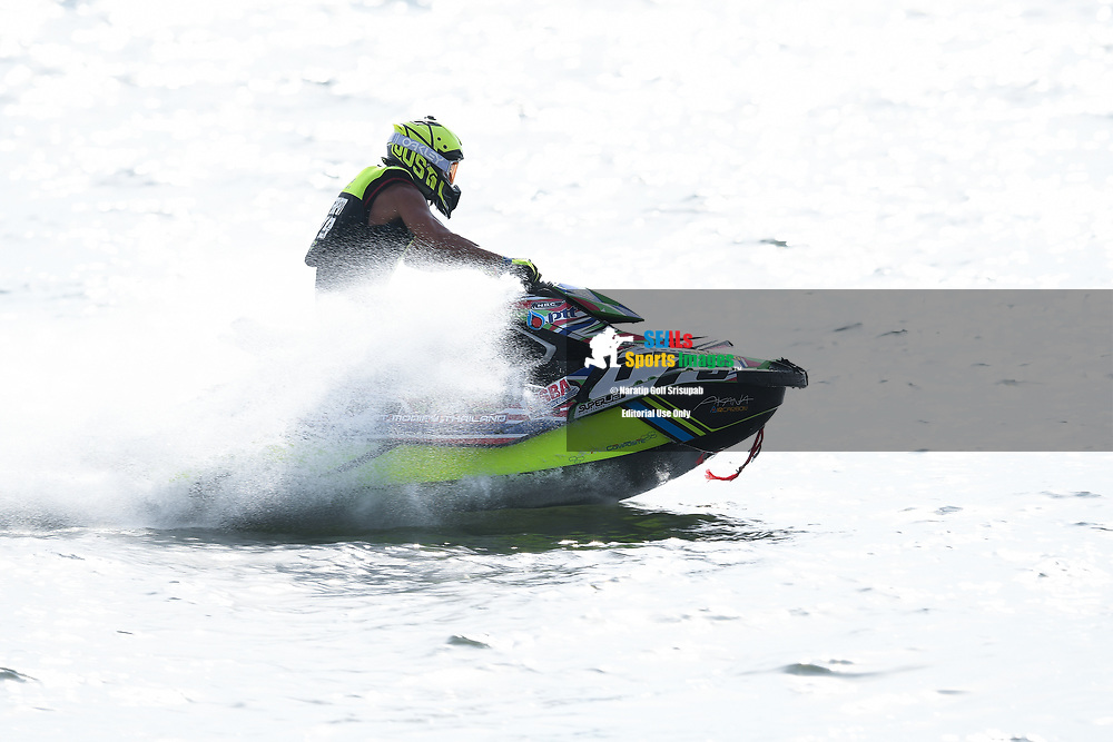 PATTAYA, THAILAND - DECEMBER 09: Permphon Teerapatpanich (T79) of Thailand and PTT Jet Ski Racing in action during the Pro Runabout 1100 Open Moto4 at the Thai Airways International Jet Ski World Cup 2018, Jomtien Beach, Pattaya, Thailand on December 09, 2018. <br /> .<br /> .<br /> .<br /> (Photo by: Naratip Golf Srisupab/SEALs Sports Images)<br /> .<br /> Any image use must include a mandatory credit line adjacent to the content which should read: Naratip Golf Srisupab/SEALs Sports Images