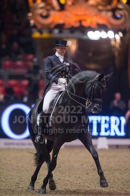 Terhi Stegars (FIN) & Axis TSF - Grand Prix Freestyle - Reem Acra FEI World Cup Dressage - London International Horse Show Olympia - Olympia, London, United Kingdom - 17 December 2013