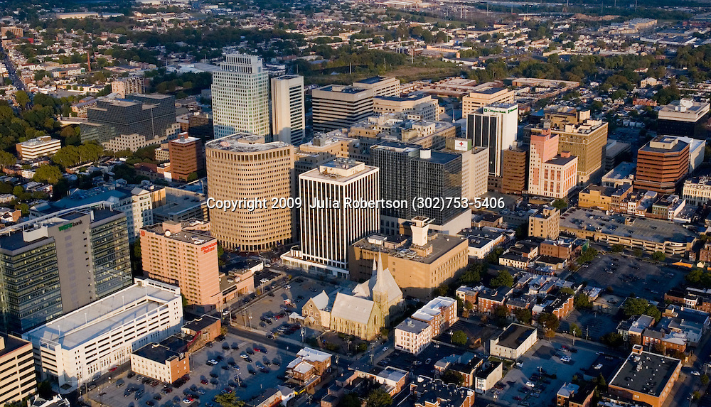 Aerial views of Downtown Wilmington, Delaware, home of President Biden and  First lady jill Biden