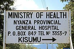 Nyanza Provincial General Hospital Sign