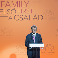 Andrej Babis Prime Minister of Czech Republic delivers his speech at the Budapest Demographic Summit in Budapest, Hungary on Sept. 5, 2019. ATTILA VOLGYI