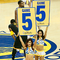 12 June 2017: Golden State Warriors cheerleaders are seen prior to the Golden State Warriors 129-120 victory over the Cleveland Cavaliers, in game 5 of the 2017 NBA Finals, at the Oracle Arena, Oakland, California, USA.