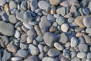 Pebbles and smooth stones on the shore of the Black Sea, Georgia