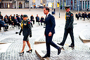Nationale Dodenherdenking 2021 vanaf de Dam in Amsterdam met Koning Willem-Alexanderen en Koningin Maxima . De Dam is vanwege de coronamaatregelen niet toegankelijk voor publiek. FOTO: Brunopress/Patrick van Emst<br /> <br /> National Remembrance Day 2021 from Dam Square in Amsterdam with King Willem-Alexander and Queen Maxima. Due to the corona measures, Dam Square is not accessible to the public because of de COVID.<br /> <br /> Op de foto: Mark Rutte