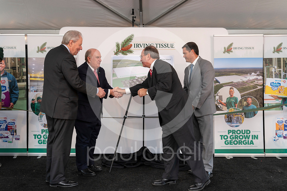 General images at the grand opening ceremony of the new Irving Tissue plant in Macon, Wednesday, Nov. 13, 2019, in Macon, GA. (Paul Abell via Abell Images for Irving Tissue)