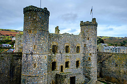 Harlech Castle, located in Harlech, Gwynedd, Wales, is a medieval fortification, constructed atop a spur of rock close to the Irish Sea. It was built by Edward I during his invasion of Wales<br /> <br /> (c) Andrew Wilson   Edinburgh Elite media