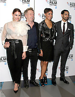 Billie Piper, Pete Travis, Cush Jumbo & RIz Ahmed, BFI London Film Festival 2016: City Of Tiny Lights - European Premiere, Picturehouse Central, London UK, 13 October 2016, Photo by Brett D. Cove