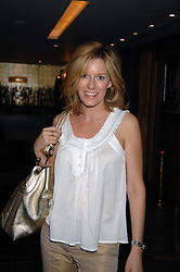 Newsreader ANDREA CATHERWOOD at a lunch in aid of Chickenshed showcasing Ben de Lisi's Spring Summer and Autumn 2007 Collections held at the Baglioni Hotel, 60 Hyde Park gate, London SW7 on 24th April 2007.<br /><br />NON EXCLUSIVE - WORLD RIGHTS