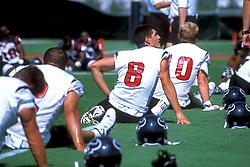 Stock photo of Houston Texans Practicing calisthenics on the field