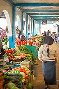 Vegetable stall, Otavalo food Market, Ecuador, South America