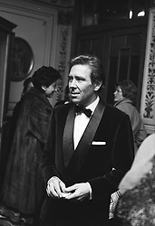 The EARL OF SNOWDON at the Vanderville Theatre, London on December 14th 1973.