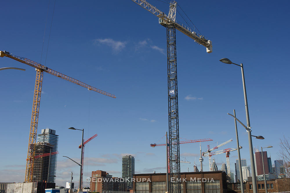 Construction of the West Don Lands neighbourhood in Toronto.