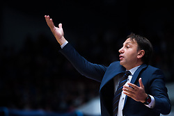 November 8, 2017 - Saint Petersburg, Russia - Head coach Orhun Ene of Tofas Bursa reacts during the EuroCup Round 5 regular season basketball match between Zenit St. Petersburg and Tofas Bursa at the Yubileyny Sports Palace in St. Petersburg, Russia, November 08, 2017. (Credit Image: © Igor Russak/NurPhoto via ZUMA Press)