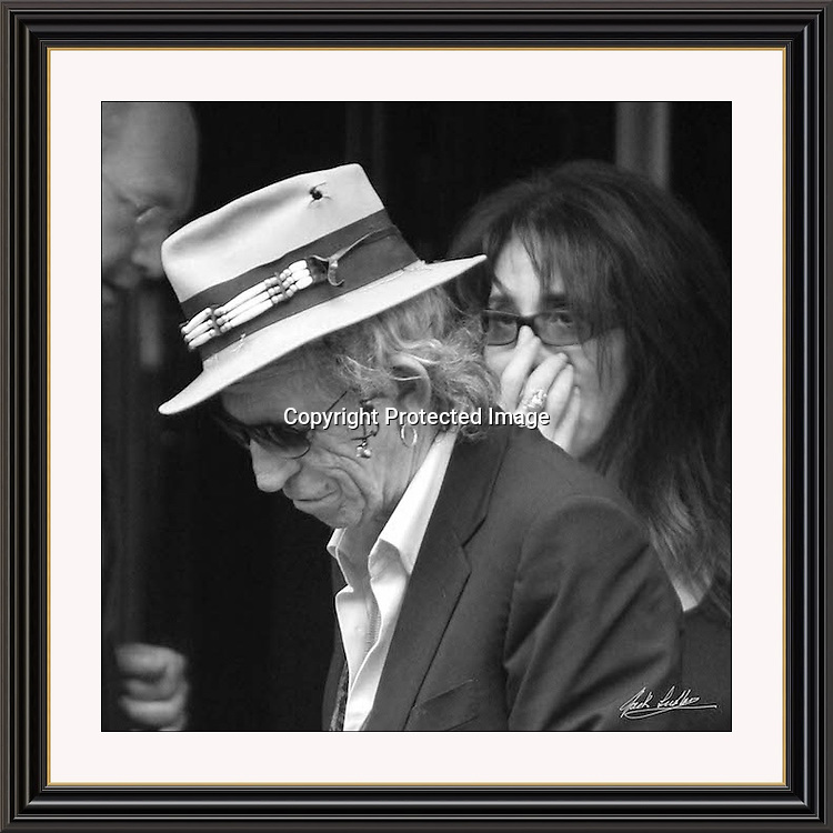 Keith Richards London Dorchester. 17x17' Museum-quality Archival signed Framed Print