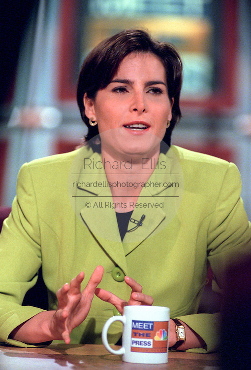 Reporter Claire Shipman discusses the ongoing Lewinsky scandal August 30th, 1998 during NBC's Meet the Press in Washington, DC.