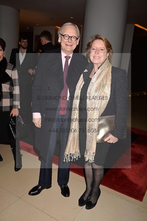 Lord John Gummer and Penelope Gummer at the Giselle Premier VIP Party, St.Martin's Lane Hotel, London England. 11 January 2017.