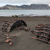 'Abandoned II' - Deception Island, Antarctica<br /> <br /> A tractor lost in volcanic ash and sand fights a losing battle against the harsh elements of Antarctica.