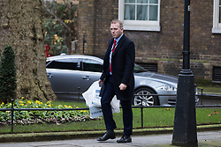 London, UK. 16 December, 2019. Robert Oxley, aide to Prime Minister Boris Johnson, arrives at 10 Downing Street on the day of a small Cabinet reshuffle following the Conservatives' general election victory.