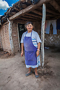 2014/11/22 – Quimili, Argentina: Simone Dominguez (67) in front of her house in the allotment number 5 of the Guaycurú Indigenous Community.  She complains that airplanes used to pulverize her house with glyphosate, in order to make her feel unsafe and abandon her land. The indigenous people in the area are being threaten by soy producers that see their land as an opportunity to grow more of the crop. On the otherhand indigenous defend a sustainable agriculture and to live in harmony with the nature. (Eduardo Leal)