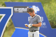 Robert Rock (ENG) on the 17th tee during the 3rd round of the DP World Tour Championship, Jumeirah Golf Estates, Dubai, United Arab Emirates. 17/11/2018<br /> Picture: Golffile   Fran Caffrey<br /> <br /> <br /> All photo usage must carry mandatory copyright credit (© Golffile   Fran Caffrey)