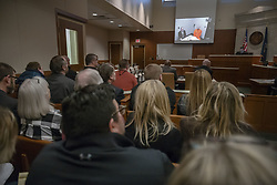 Jake Paterson, the alleged kidnapper of Jayme Closs, made his first court appearance via video from jail Monday, January 14, 2019 in Barron, WI, USA. Photo by Richard Tsong-Taatarii/Minneapolis Star Tribune/TNS/ABACAPRESS.COM