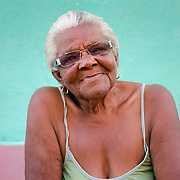 Portrait of elderly Cuban woman