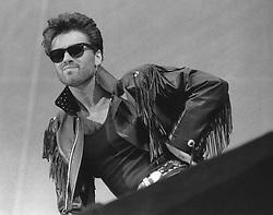 April 18, 2012 - London, England, United Kingdom - GEORGE MICHAEL PERFORMS AT WHAM-THE FINAL. JUNE 1986. (Credit Image: © Frank Griffin/Avalon via ZUMA Press)