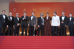 David Furnish, Bernie Taupin, Sir Elton John, Taron Egerton and cast attending the Rocketman Premiere as part of the 72nd Cannes International Film Festival in Cannes, France on May 16, 2019. Photo by Aurore Marechal/ABACAPRESS.COM