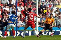 Photo: Ed Godden.<br /> Portsmouth v Liverpool. The Barclays Premiership. 28/04/2007. Niko Kranjcar (L) scores the second goal for Portsmouth.