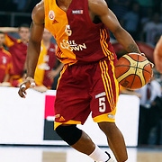 Galatasaray's Jerry JOHNSON during their Turkish Basketball league Play Off Final third leg match Galatasaray between Fenerbahce Ulker at the Abdi Ipekci Arena in Istanbul Turkey on Thursday 09 June 2011. Photo by TURKPIX