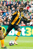 Football - 2016 / 2017 Premier League - Swansea City vs. Hull City<br /> <br /> Adama Diomande of Hull City shoots at goal -- at the Liberty Stadium.<br /> <br /> COLORSPORT/WINSTON BYNORTH