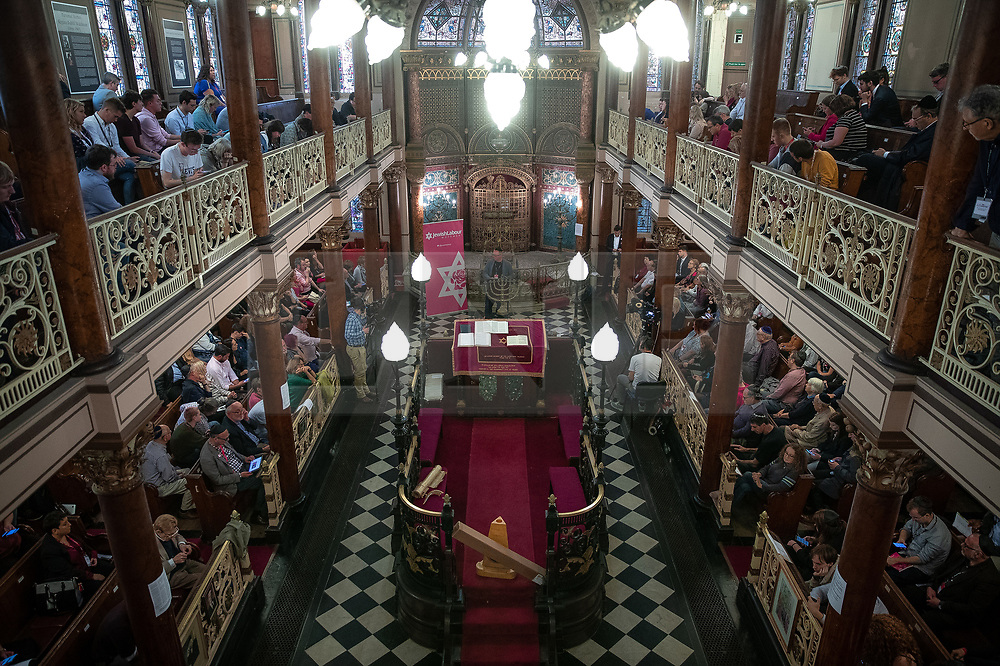 © Licensed to London News Pictures . 22/09/2019. Brighton, UK. A fringe event by the Jewish Labour Movement at middle Street Brighton Synagogue, during the second day of the 2019 Labour Party Conference from the Brighton Centre . Photo credit: Joel Goodman/LNP