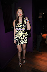 CLARY ASPINALL at the Tatler Little Black Book Party held at Chinawhite, 4 Winsley Street, London on 20th November 2009.