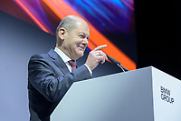 """28 NOV 2019, BERLIN/GERMANY:<br /> Olaf Scholz, SPD, Bundesfinanzminister, haelt eine REde, BMW Jahreskonferenz """"Im Auftrag der Zukunft. Politik und Wirtschaft im Dialog."""", ewerk Berlin-Mitte<br /> IMAGE: 20191128-01-079"""